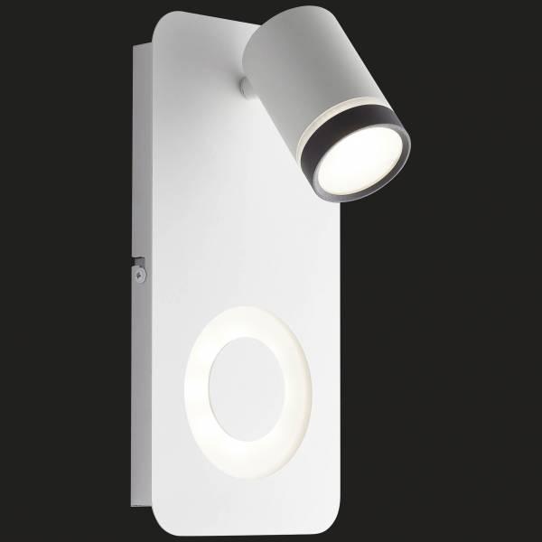 Breena LED Wandspot 2flg sand weiß/schwarz