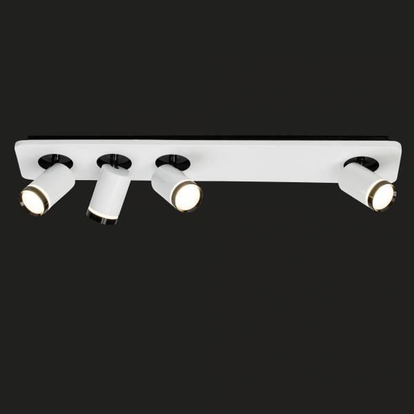 Sol LED Spotbalken 4flg weiß-glänzend/schwarz AEG191189